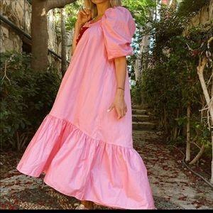 H&M PINK DRESS w/PUFF SLEEVES DRESS